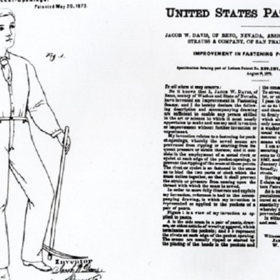 20th May 1873: Levi Strauss & Co. patent riveted blue jeans