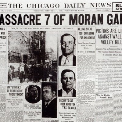 14th February 1929: Saint Valentine's Day Massacre committed in Chicago