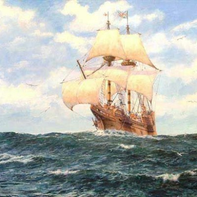 5th April 1621: The Mayflower returns to England