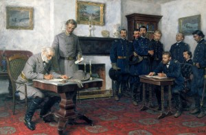 9th April - Robert E. Lee's surrender to Ulysses S. Grant
