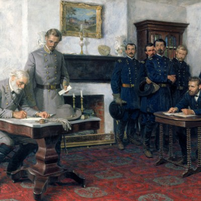 9th April 1865: Robert E. Lee surrenders to Ulysses S. Grant