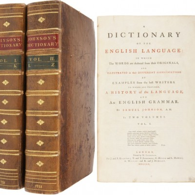 15th April 1755: Dr Samuel Johnson's Dictionary published