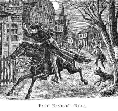 18th April 1775: Paul Revere's Ride signals American Revolution