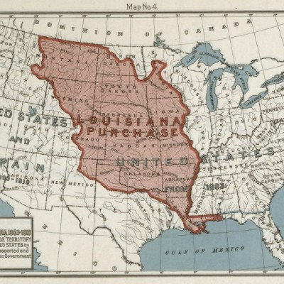 30th April 1803: America doubles in size having concluded the Louisiana Purchase