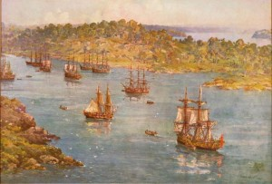 First Fleet in Sydney Cove