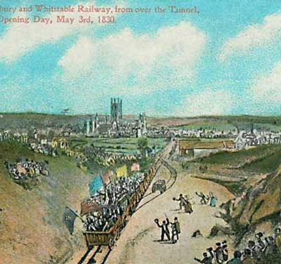 3rd May 1830: First timetabled passenger railway begins service