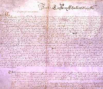 7th June 1628: Petition of Right ratified by King Charles I