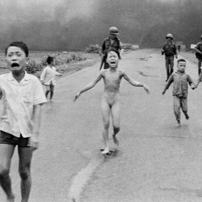 8th June 1972: Photo taken of Vietnamese girl running from napalm