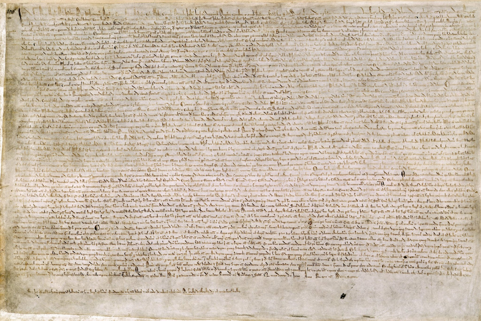 15th June 1215: King John agrees to Magna Carta by adding his seal