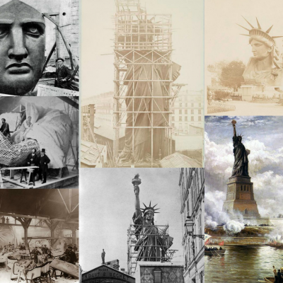 17th June 1885: Statue of Liberty arrives in New York from France