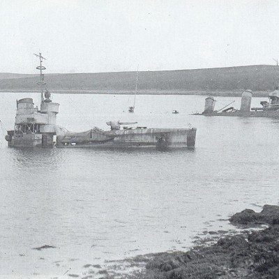 21st June 1919: The German High Seas naval fleet is scuttled at Scapa Flow