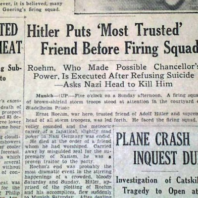 30th June 1934: Nazi party purged on Night of the Long Knives