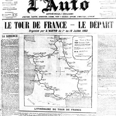 1st July 1903: First Tour de France cycling race takes place