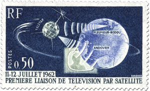 Telstar first satellite TV broadcast