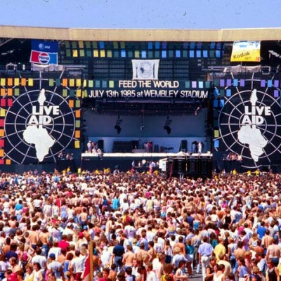 13th July 1985: Live Aid is watched by 1.9 billion people