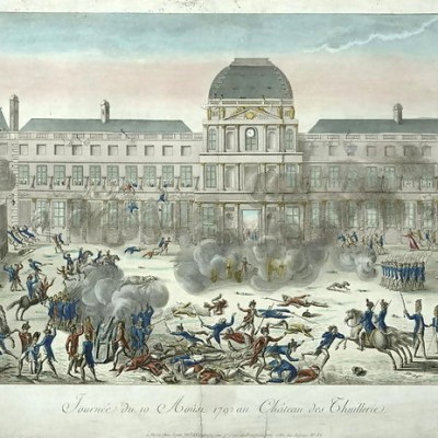 10th August 1792: Tuileries Palace stormed & French monarchy suspended