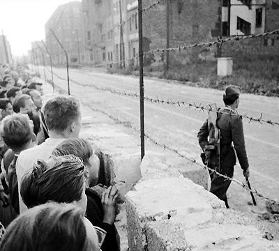 13th August 1961: Construction begins on the Berlin Wall