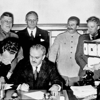 23rd August 1939: Nazi-Soviet Pact signed by Molotov and Ribbentrop