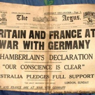 3rd September 1939: Second World War begins
