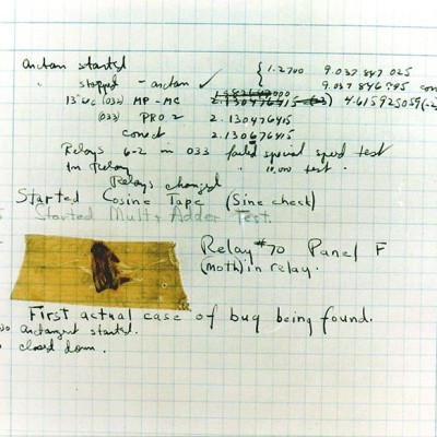 9th September 1947: Moth 'bug' discovered inside a Harvard computer