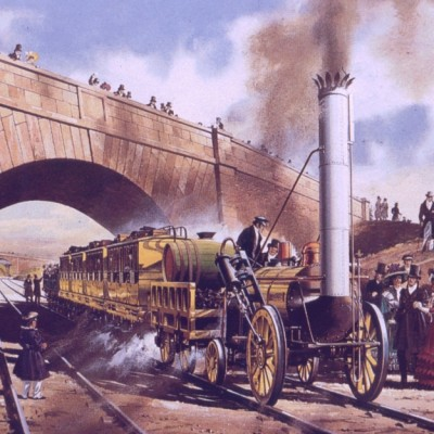 8th October 1829: Robert Stephenson's locomotive Rocket wins the Rainhill Trials