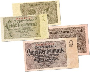 German Rentenmark hyperinflation