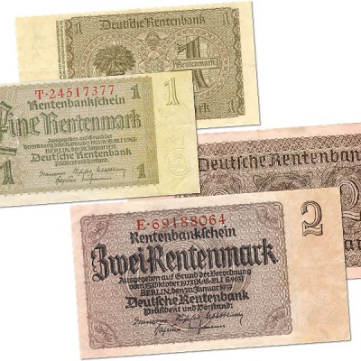 15th October 1923: Rentenmark introduced in Weimar Germany