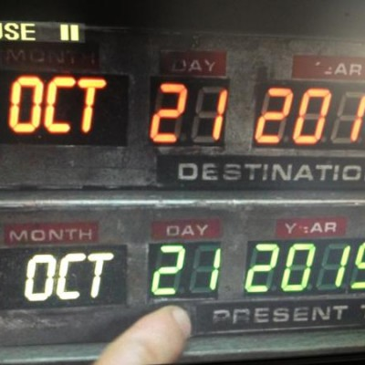 21st October 2015: Marty McFly goes 'Back To The Future' today