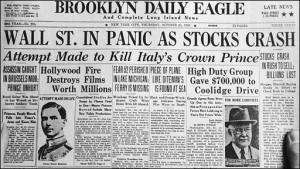 Wall Street Crash Black Thursday