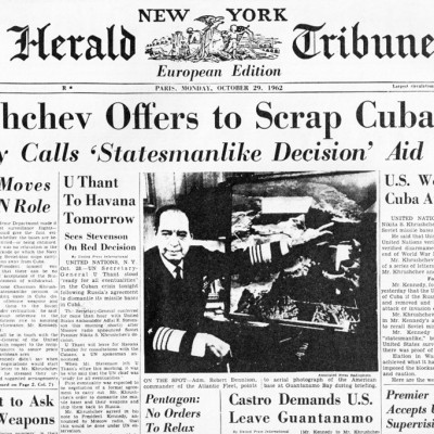 28th October 1962: Cuban Missile Crisis ends with USSR's agreement to remove missiles
