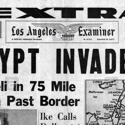29th October 1956: Israel invades Egypt in the Suez Crisis