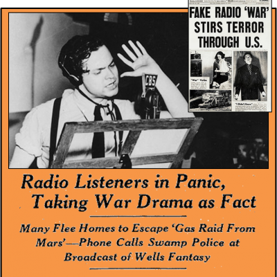 30th October 1938: War of the Worlds by Orson Welles is broadcast