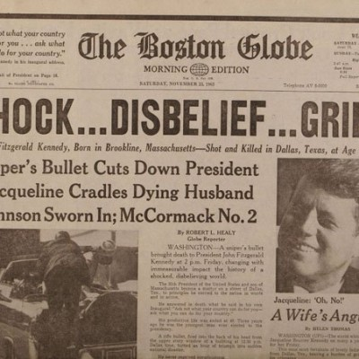 22nd November 1963: Assassination of John F. Kennedy