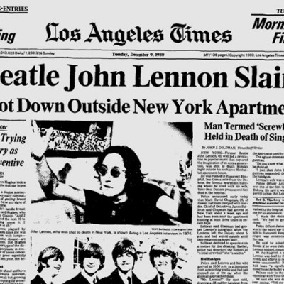 8th December 1980: John Lennon murdered by Mark David Chapman