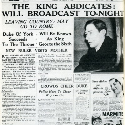 11th December 1936: Abdication of King Edward VIII