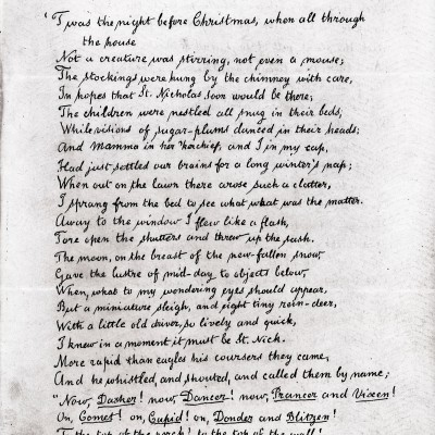 23rd December 1823: The Night Before Christmas first published