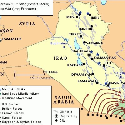 17th January 1991: Gulf War combat begins with Operation Desert Storm