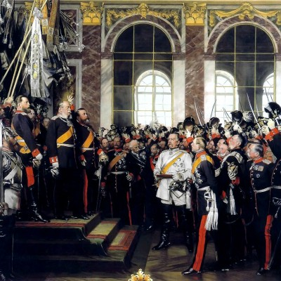 18th January 1871: Wilhelm I declared German Emperor
