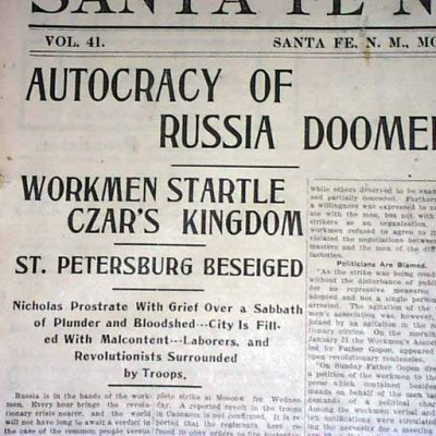 22nd January 1905: Bloody Sunday massacre in Saint Petersburg