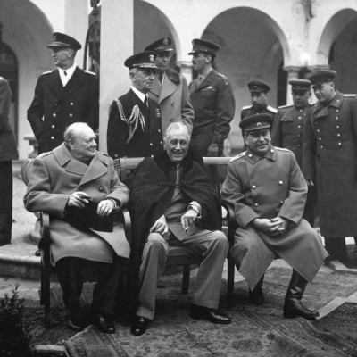 4th February 1945: Yalta Conference between Roosevelt, Churchill and Stalin begins