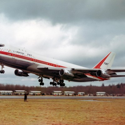 9th February 1969: First test flight of Boeing 747 'Jumbo Jet'