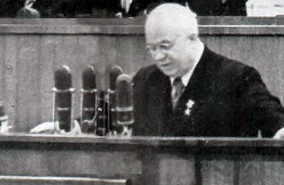 25th February 1956: Khruschev criticises Stalin in his 'secret speech' to the 20th Party Congress