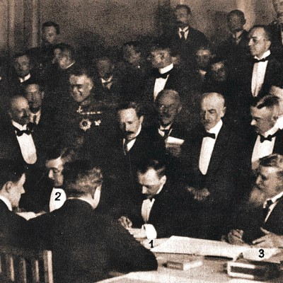 3rd March 1918: Treaty of Brest-Litovsk with Central Powers ends Russian participation in WW1