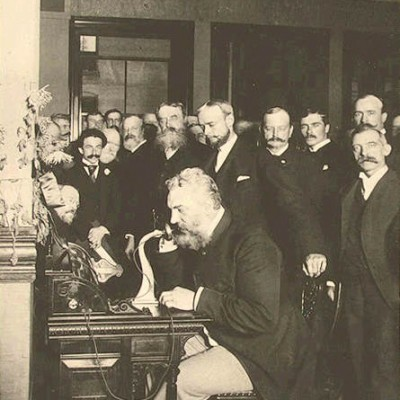10th March 1876: Bell transmits the first speech using the telephone