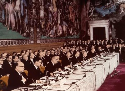 25th March 1957: Treaty of Rome establishes the EEC