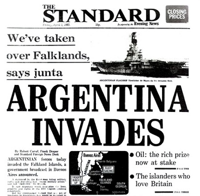 2nd April 1982: Falklands War begins with Argentine invasion