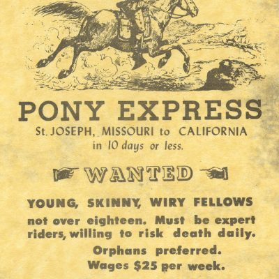 3rd April 1860: The first Pony Express service went into operation