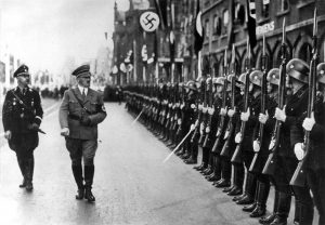 Hitler inspects the SS