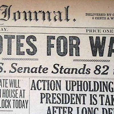 6th April 1917: The USA declares war on Germany in WW1