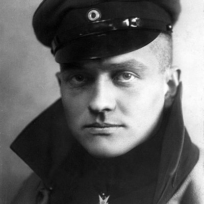 21st April 1918: Manfred von Richthofen, aka The Red Baron, shot down and killed
